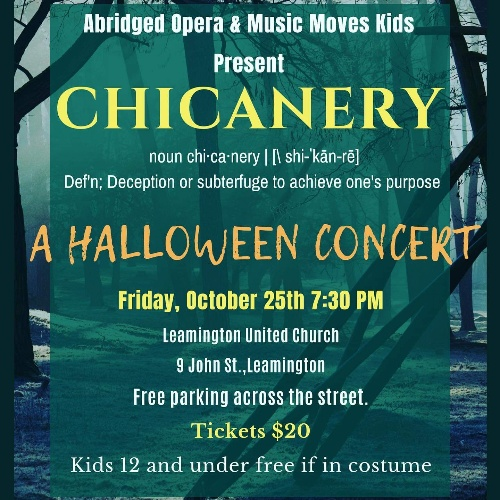 Chicanery | Abridged Opera Halloween Concert Poster