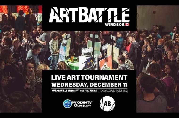 Art Battle Windsor Poster