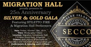 Migration Hall 25th Anniversay Silver & Gold Gala Poster