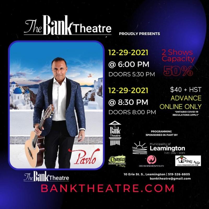 Pavlo in Concert Chrysler Theatre