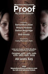 Bloomsbury House Stage Productions presents Proof, David Auburn Poster