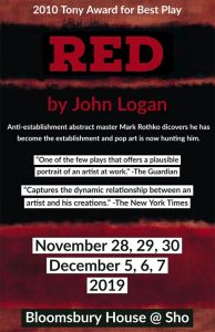 Red by John Logan Presented by Bloomsbury House Poster