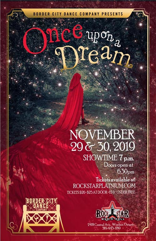 Border City Dance Company Once Upon A Dream Poster