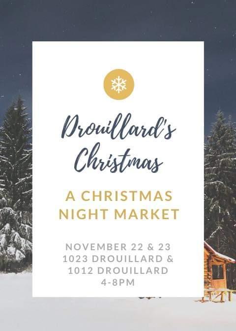 Drouillard's Christmas Night Market Poster