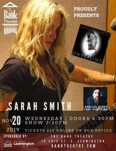 """Sarah Smith """"Unveiling"""" Album Release Concert at the Bank Theatre Poster"""