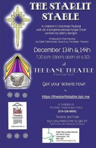 The Starlit Stable Children's Christmas Concert Poster | Bank Theatre Leamington