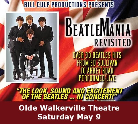 BeatleMania Revisited Beatles Tribute Concert Poster Olde Walkerville Theatre