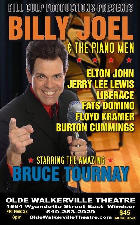 Billy Joel & The Piano Men Bill Culp Productions Poster for Olde Walkerville Theatre Windsor