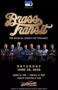 Brass Transit Chicago Tribute Poster Olde Walkerville Theatre
