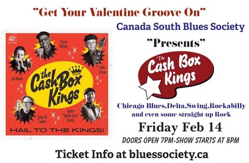 Canada South Blues Society Cash Box Kings Poster