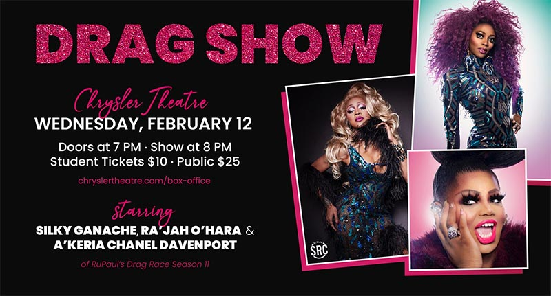 Coming Out Drag Night Featuring RuPaul's Season 11 Queens Poster St. Clair College SRC