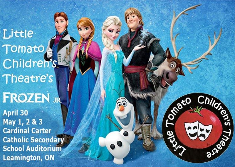 Frozen Jr. Little Tomato Children's Theatre Company Poster