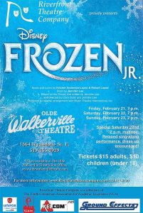 Frozen Jr. The Musical Riverfront Theatre Company Poster