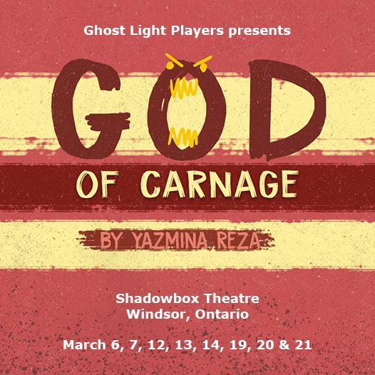 God of Carnage Ghost Light Players Poster