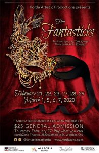 The Fantasticks Poster | Kordazone Theatre