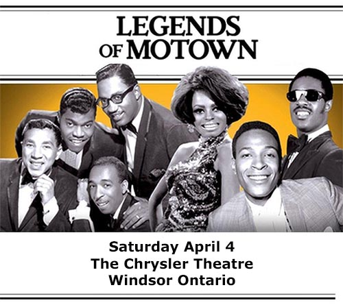 Legends of Motown Tribute Poster The Chrysler Theatre