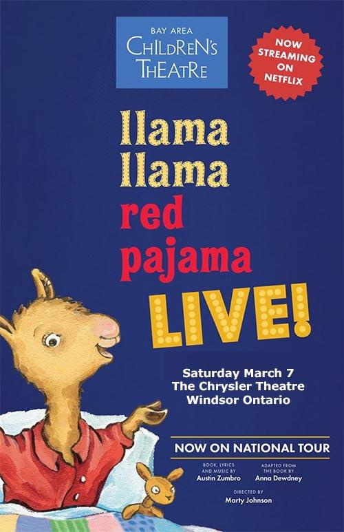 Llama Llama Live Poster Chrysler Theatre Windsor