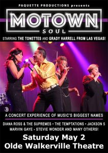 Motown Soul Olde Walkerville Theatre Poster