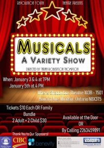 Revolution Youth Theatre Musicals Variety Show Poster