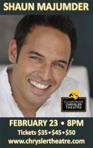 Comedian Shaun Majumder Poster The Chrysler Theatre