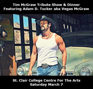 Tim McGraw Tribute Show and Dinner Poster