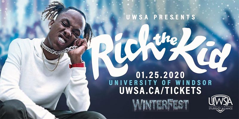 Winterfest University of Windsor USWA Poster Rich The Kid