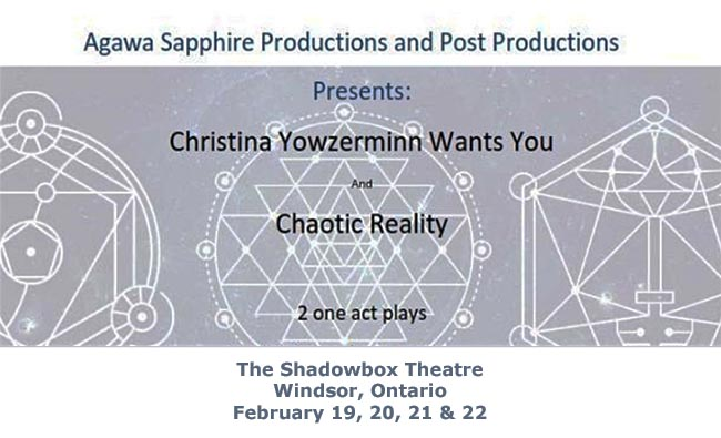 Christina Yowzerminn Wants You & Chaotic Reality Poster