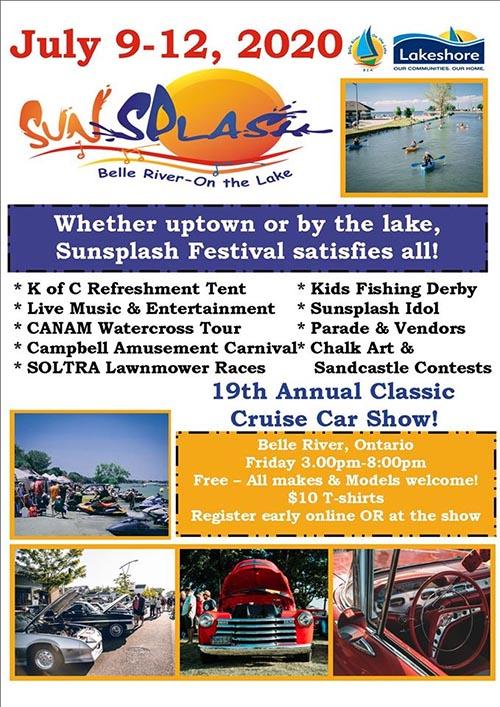 Belle River on The Lake Sunsplash Festival Poster