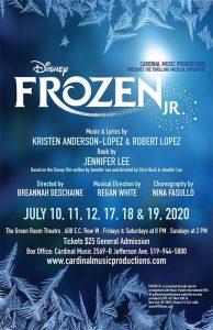 Frozen Jr. Cardinal Music Productions Poster