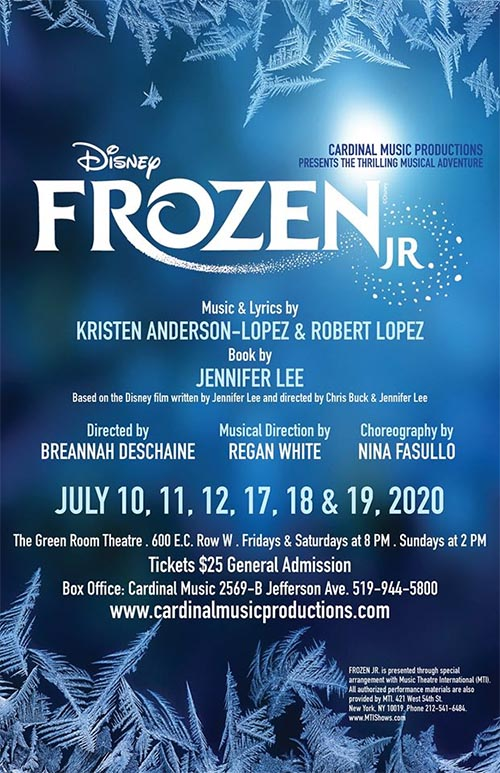 Frozen Jr. Cardinal Music Productions Poster