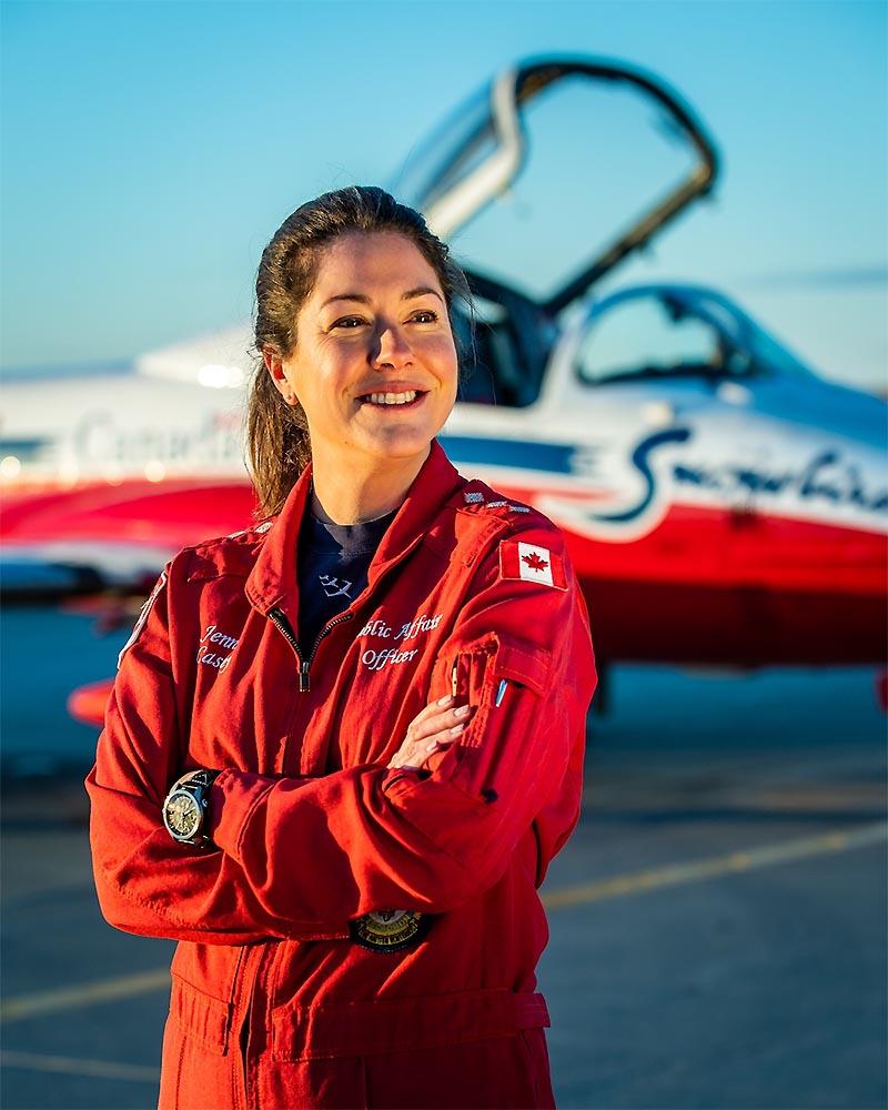 Capt. Jennifer Casey Canadian Forces Snowbirds