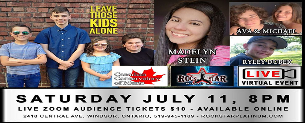 Leave Those Kids Alone - Madelyn Stein - RockStar Virtual Stage