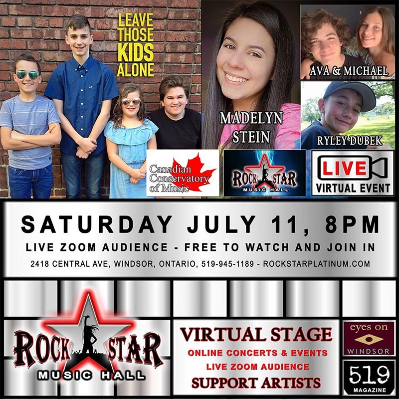 Rockstar Music Hall Virtual Stage Experience July 11 poster.