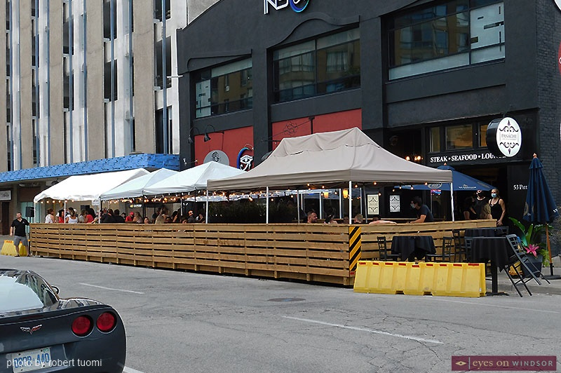 Patio Downtown Windsor Pitt Street Parklet