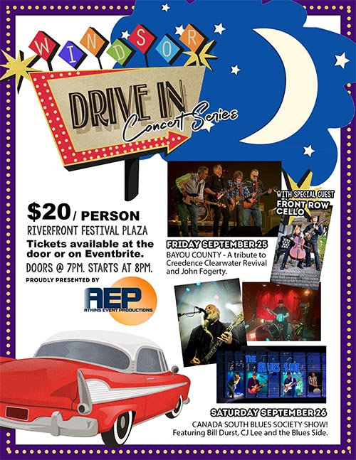 Windsor Drive In Concert Series Poster