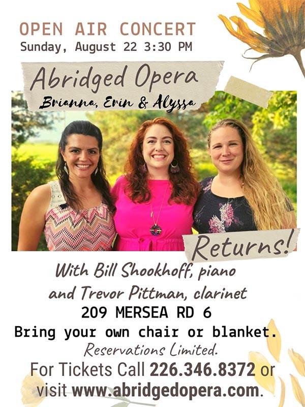 Abridged Opera Open Air Concert Poster