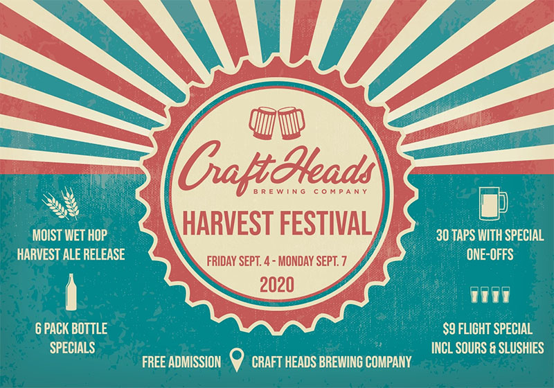 Craft Heads Harvest Festival Poster