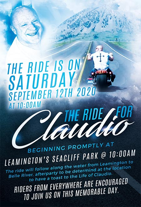 Ride For Claudio Poster