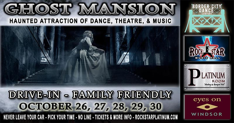 Ghost Mansion Haunted Attraction Poster Rockstar Windsor