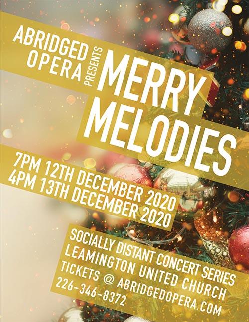 Abridged Opera Merry Melodies Poster