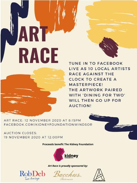 Art Race Poster Kidney Foundation Windsor Esssex