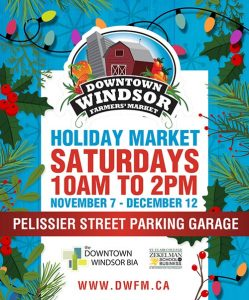 Downtown Windsor Farmers Market Holiday Market Winter Poster
