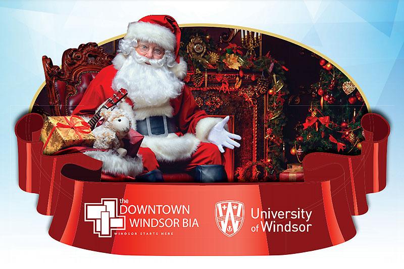 Santa at the Downtown Windsor Holiday Village