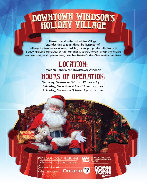 Downtown Windsor Holiday Village Poster