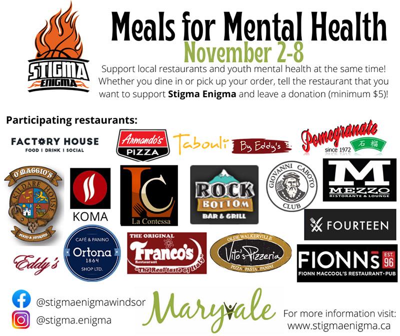 Meals For Mental Health Stigma Enigma Poster