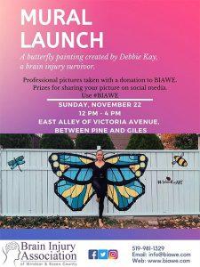 Butterfly Mural Launch Debbie Kay Brain Injury Association Fundraiser