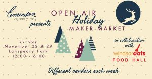 Open Air Holiday Market Poster