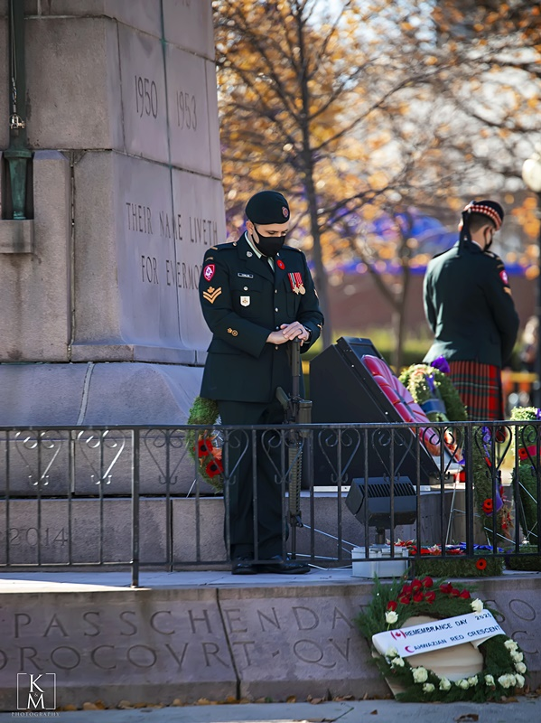 Remembrance Day Ceremony City of Windsor Cenotaph