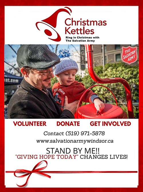 Salvation Army Windsor Christmas Kettle Volunteers Wanted Poster