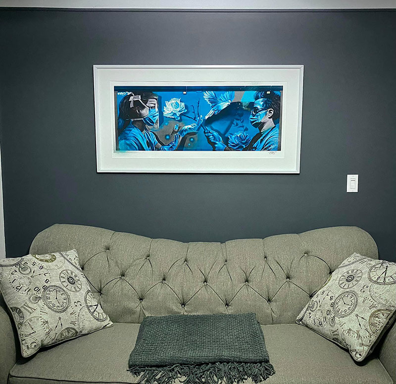 Derkz XL Framed Healthcare Mural Print